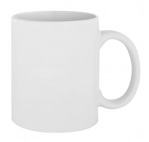 Керамическая белая чашка 11oz